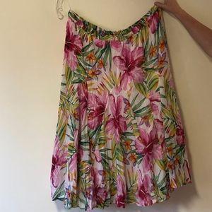 NWT Plus Westport 1962 Floral Peasant Skirt BOHO!